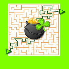 St Patrick's Day printable mazes
