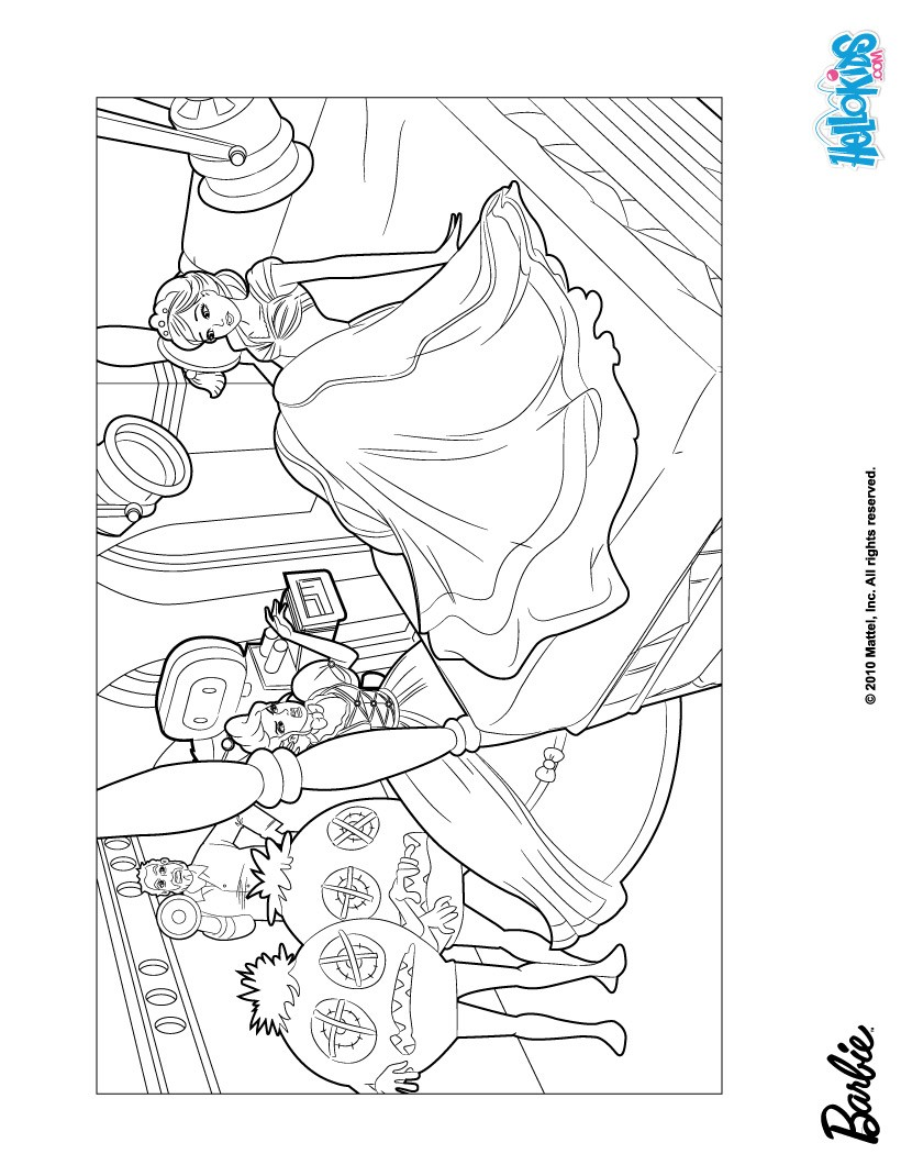 Barbie during the movie shoot coloring pages for Barbie a fashion fairytale coloring pages to print
