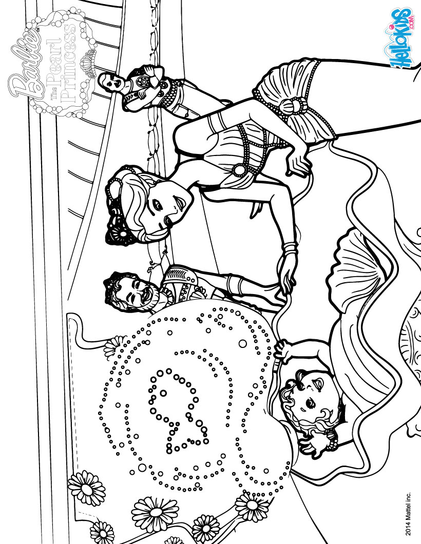 Mermaid royal family coloring pages - Hellokids.com