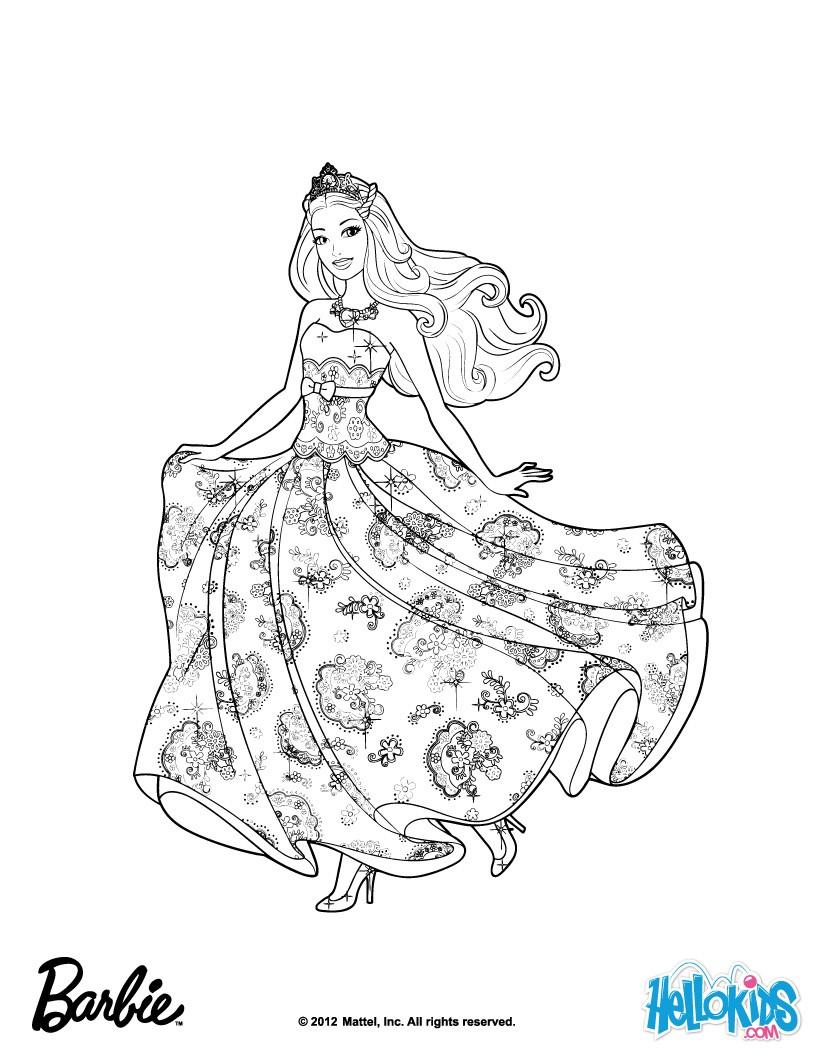 Princess tori coloring pages - Hellokids.com