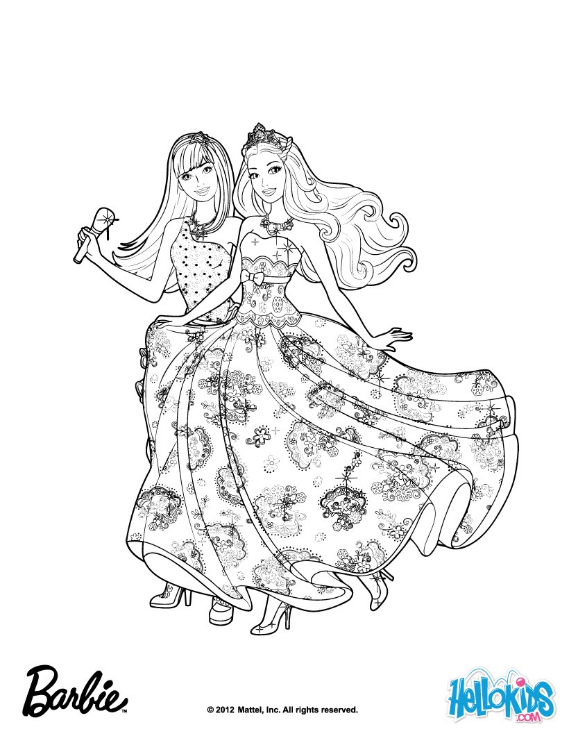 friends forever music coloring pages  hellokids