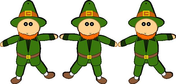 Leprechaun paper puppet