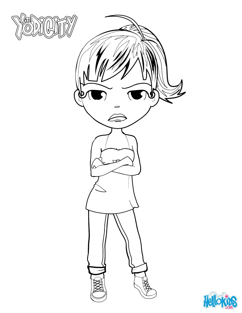angry yodimi coloring page