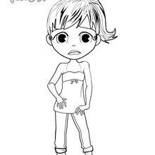 Sad Yodimi coloring page