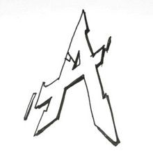 How to draw draw letter a in graffiti style Hellokids