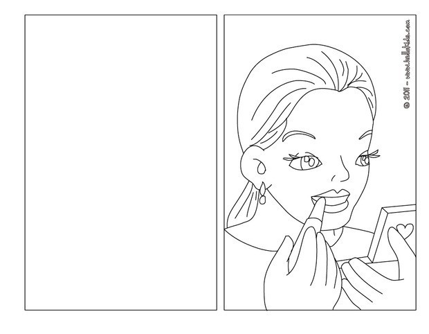 Beautiful Woman Coloring Pages Hellokids Com