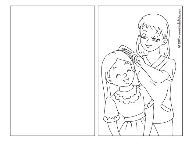 Mom and daughter coloring pages - Hellokids.com