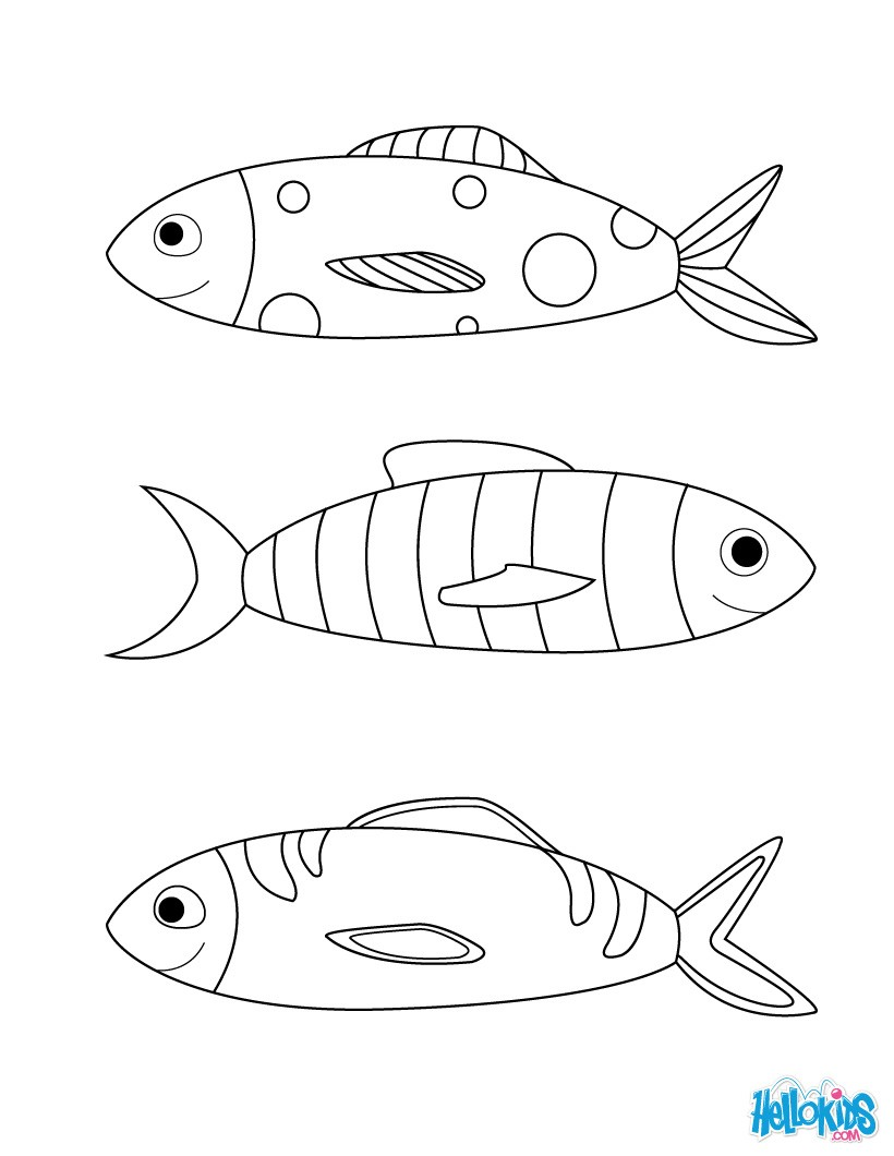 Fool Fishes coloring page