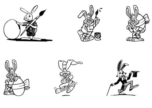 Bunnies for kids coloring page