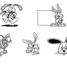 Bunny symbols coloring page