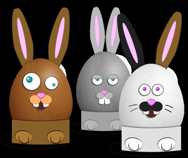 Easter Rabbit Eggs bookmark