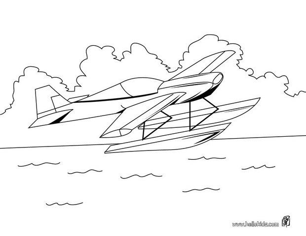 Hydroplane coloring page