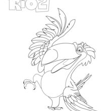 Rio 2 - RAFAEL coloring page
