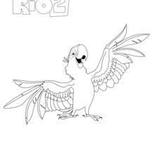 Rio 2 - BLU coloring page