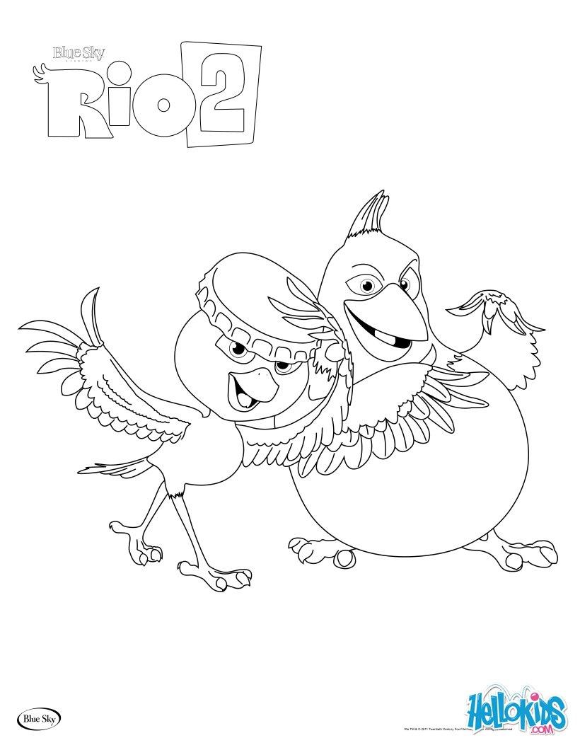 Rio 2 NICO & PEDRO coloring page