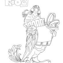 Rio 2 - NIGEL coloring page