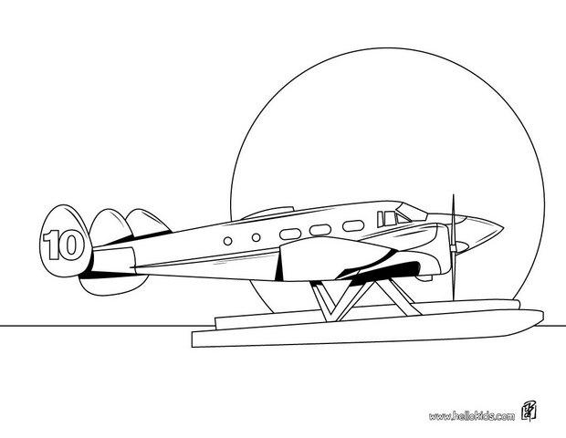 Worksheet. Sea plane coloring pages  Hellokidscom