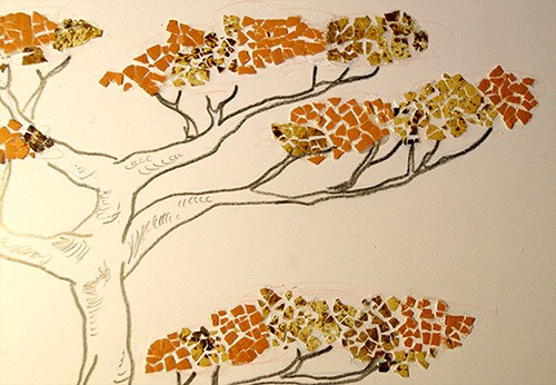 Eggshell Tree craft project