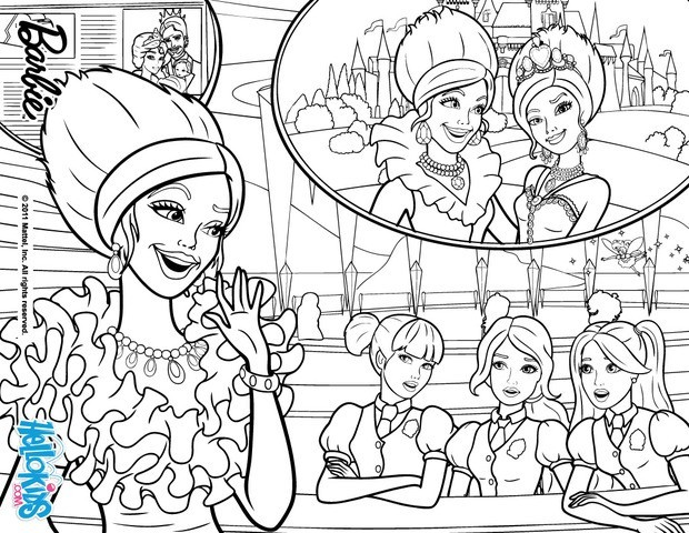 Princess Charm School Coloring Pages Princess Delancy Barbie