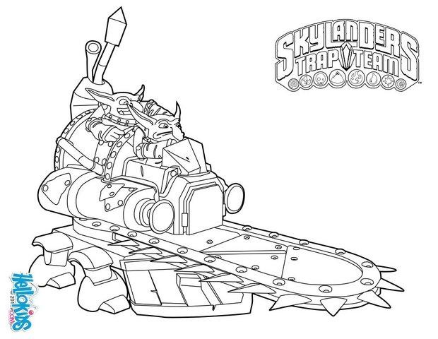 Shrednaught Coloring Pages Hellokids Com Skylanders Trap Team Coloring Pages