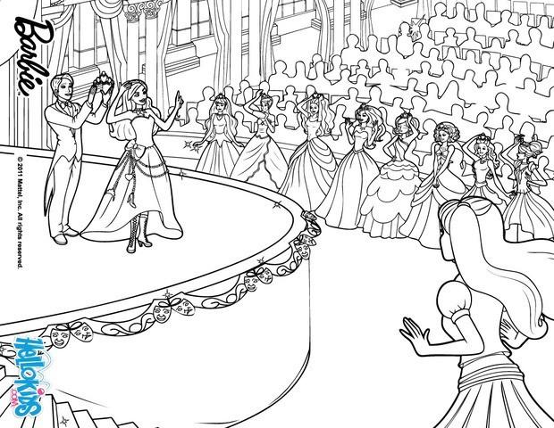 The coronation ceremony barbie printable