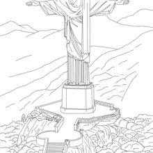 Corcovado statue in Rio coloring page