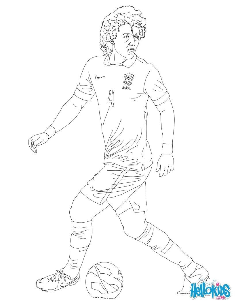 David Luiz coloring page