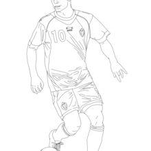 Eden Hazard coloring page