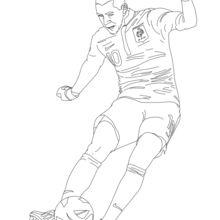 Karim Benzema coloring page
