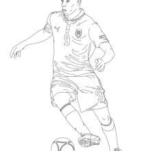 Mario Baloteli coloring page