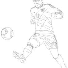 Mario Götze coloring page