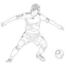 Mesut Özil coloring page