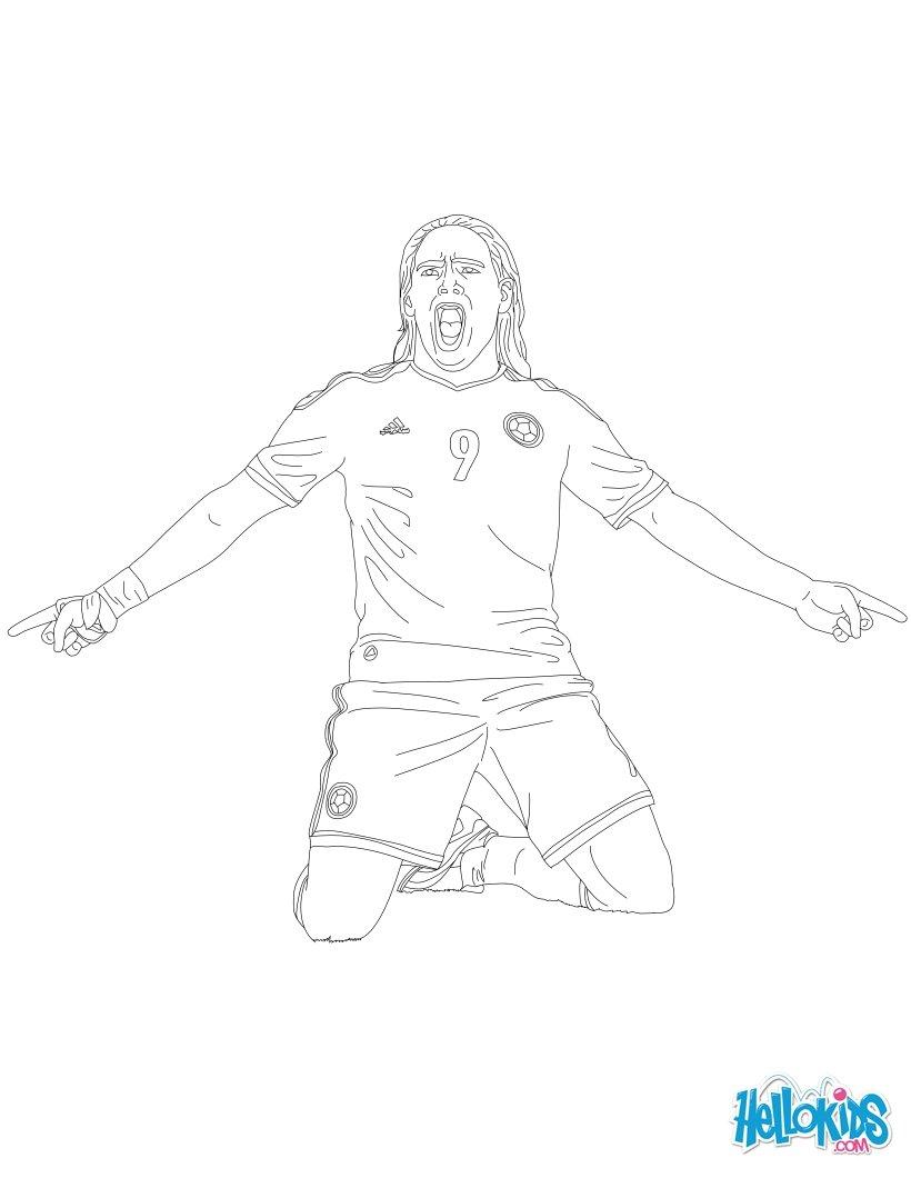 Radamel Falcao coloring page