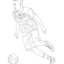 Stephan El Shaarawy coloring page