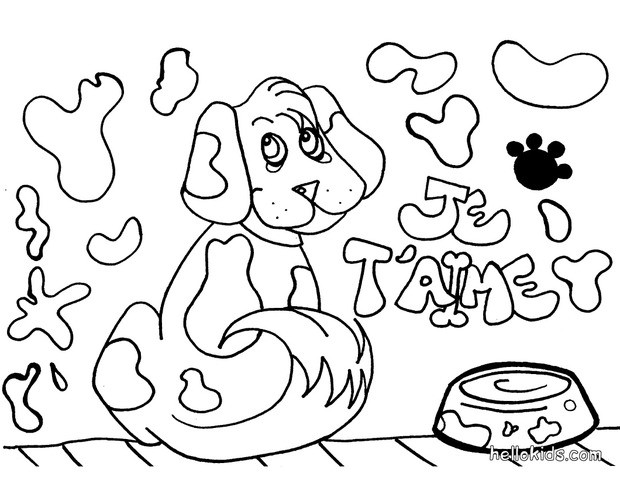 Dog head coloring pages - Hellokids.com