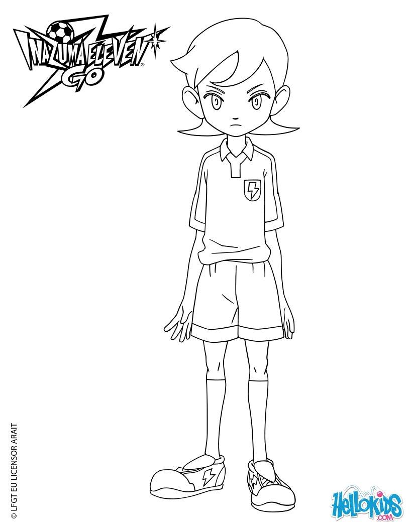 Aoyama Shunsuke coloring page