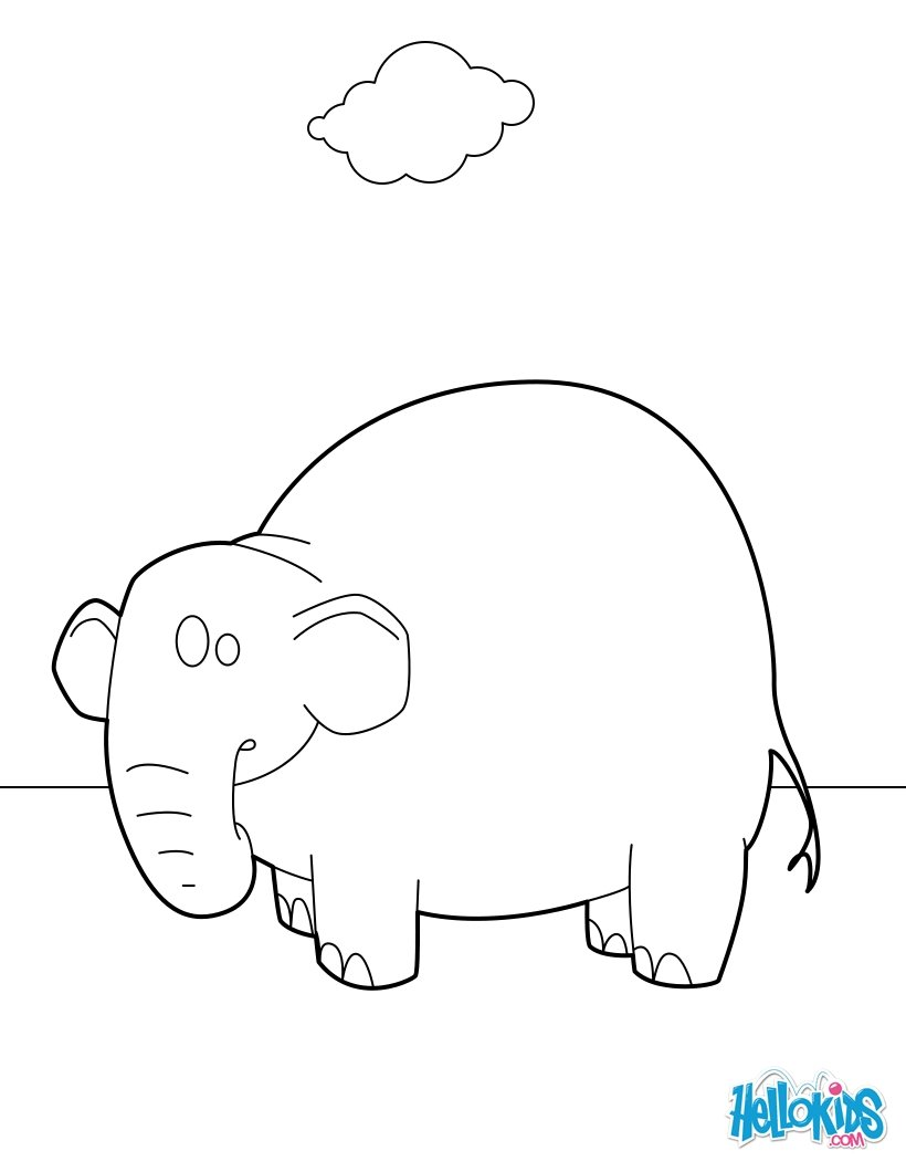 Elephant Standing coloring page