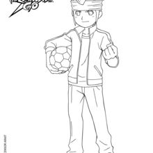 Endou Mamoru coloring page