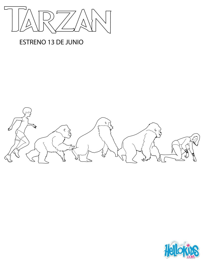 Coloring pages gorilla - Family Of Gorillas Coloring Page