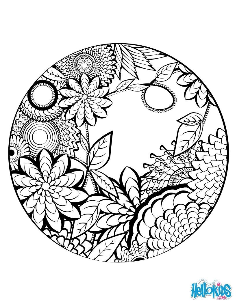 Mandala coloring page coloring pages - Hellokids.com
