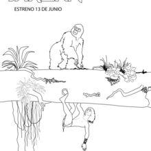 Tarzan & Trek coloring page