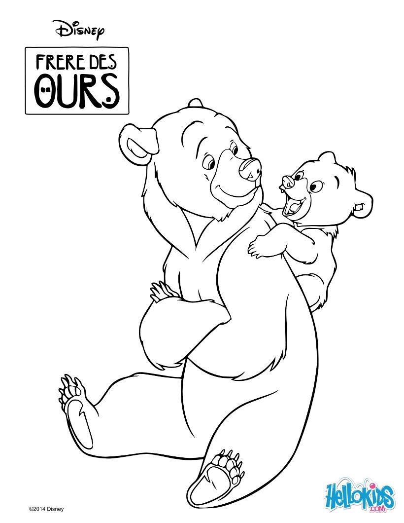 brother bear: kenaï and koda coloring pages - hellokids.com - Brother Bear Moose Coloring Pages