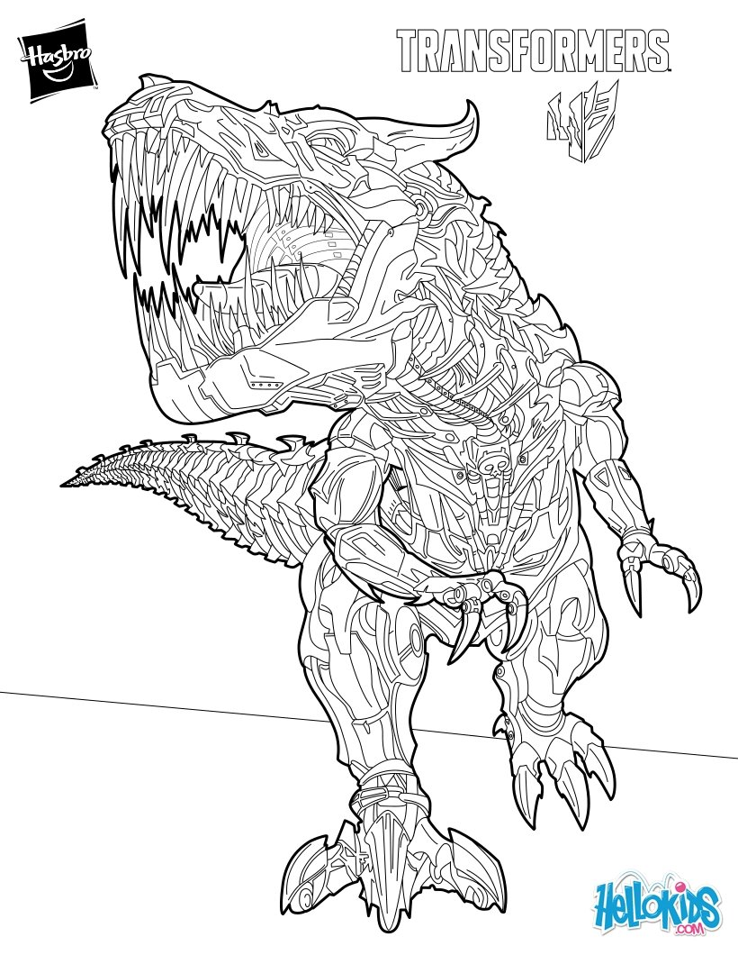Transformers Optimus Prime Coloring Pages Hellokids Com
