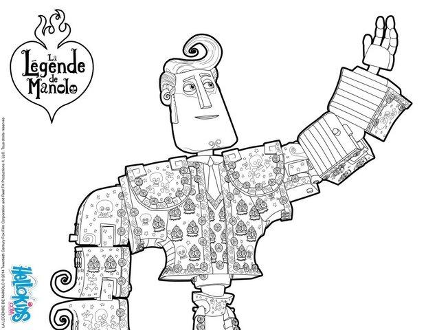 Manolo - Book of Life Movie coloring page
