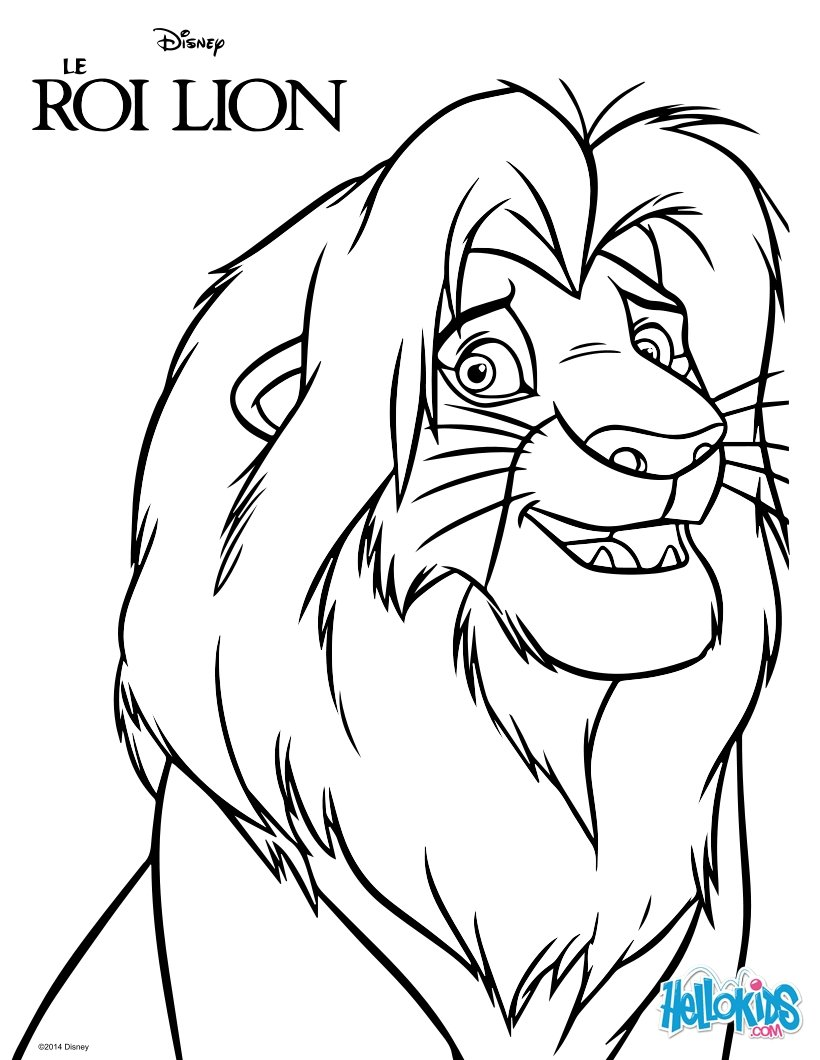 It is a graphic of Candid lion king coloring pictures