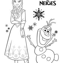 Frozen Anna And Olaf Coloring Pages Hellokids Com