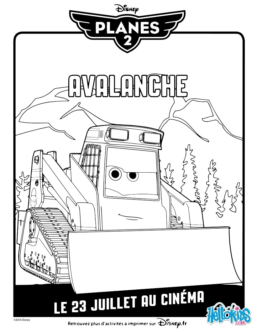 Planes 2 coloring pages - Avalanche Planes 2 Coloring Page