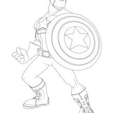 Captain America Coloring Pages Hellokids Com