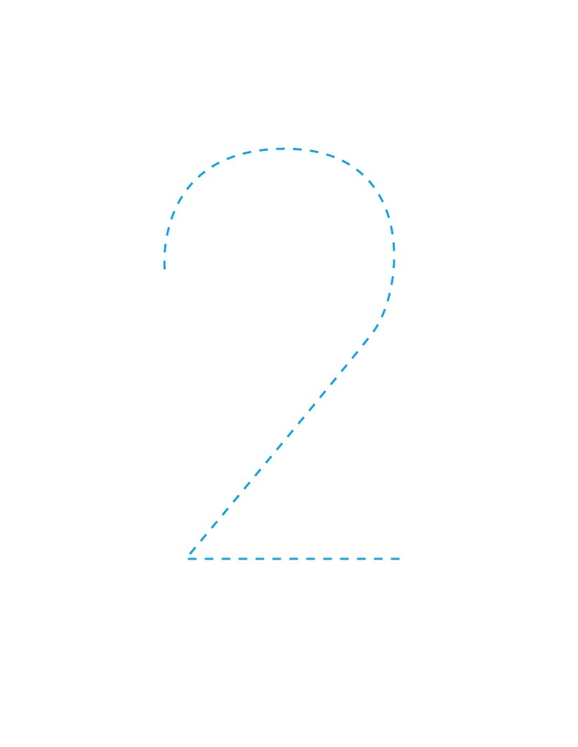 The Number 2 how-to draw lesson