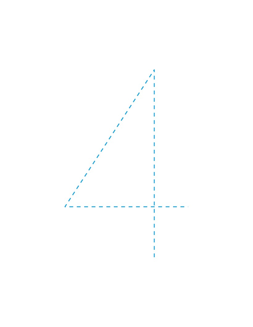 The Number 4 how-to draw lesson